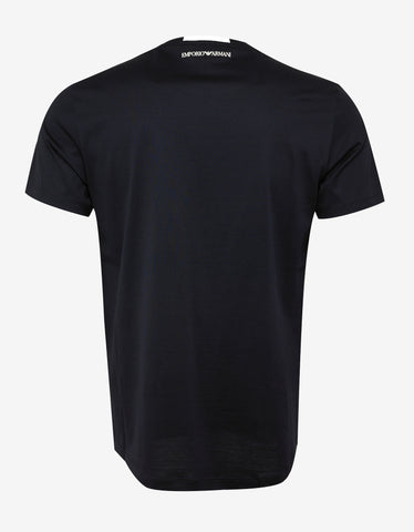 Emporio Armani Blue All-Over Logo T-Shirt