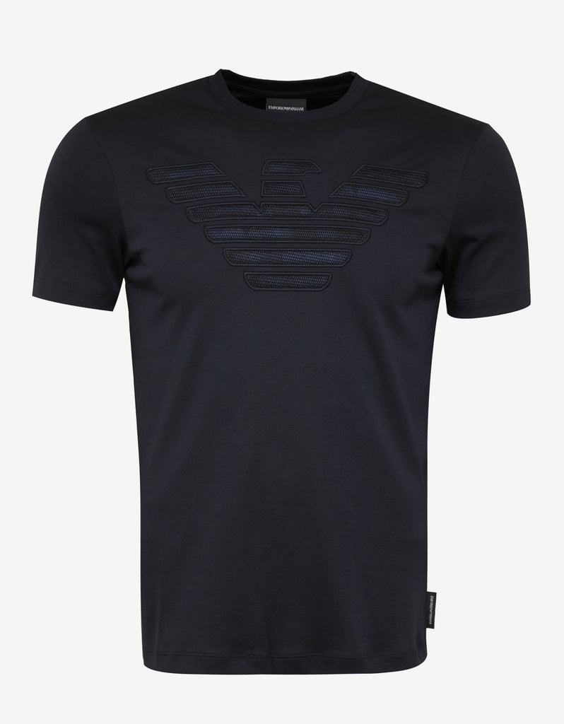 Blue Embroidered Logo T-Shirt