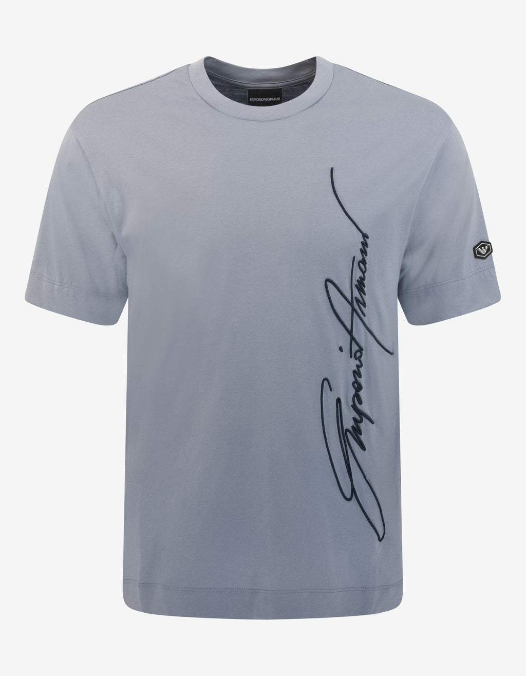 Blue Signature Logo Embroidery T-Shirt