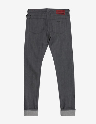 Emporio Armani Grey Slim Fit Denim Jeans