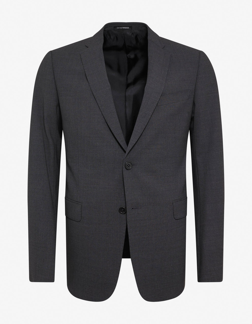 Grey Wool-Blend Two-Button Suit -