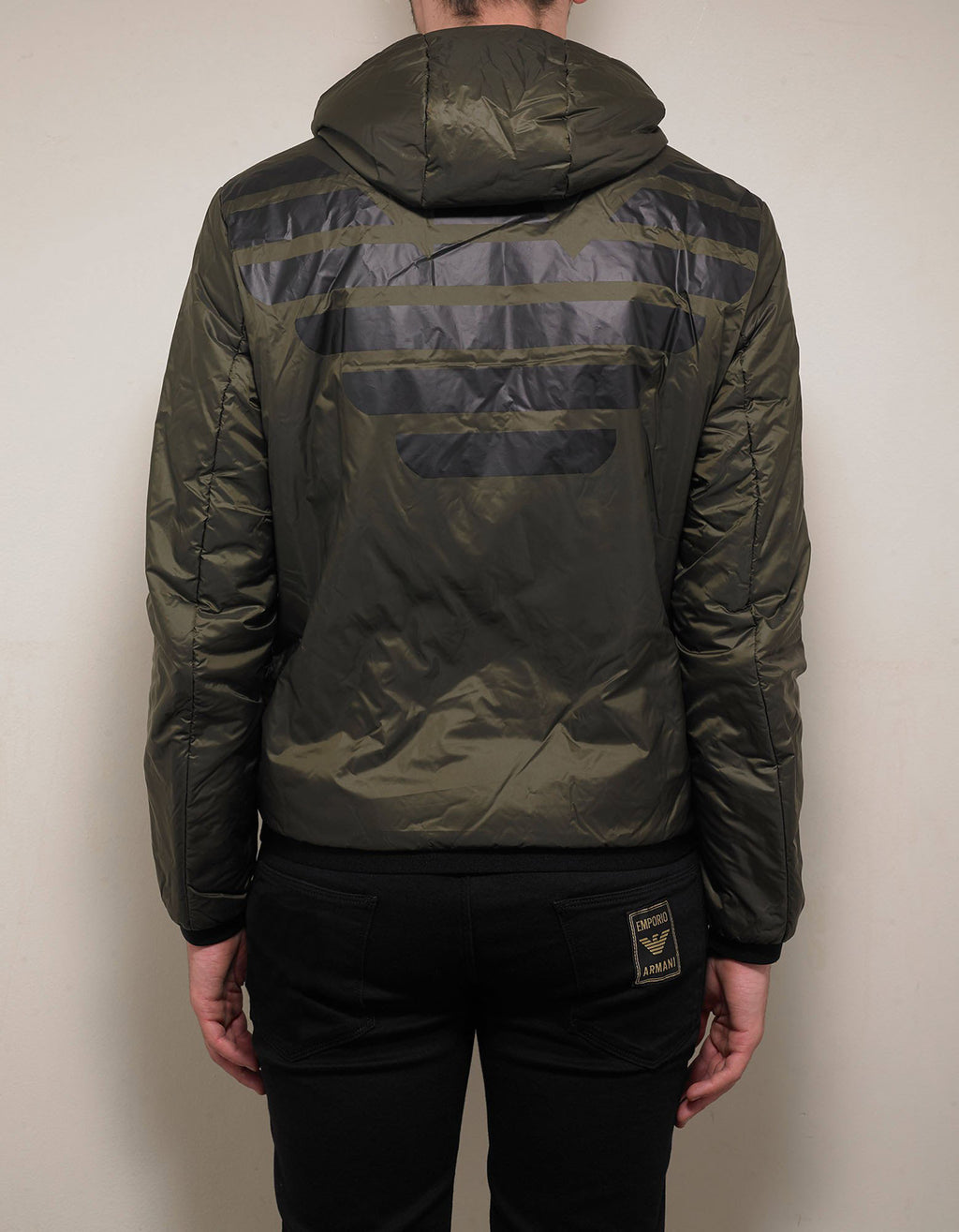 Khaki Eagle Logo Reversible Jacket