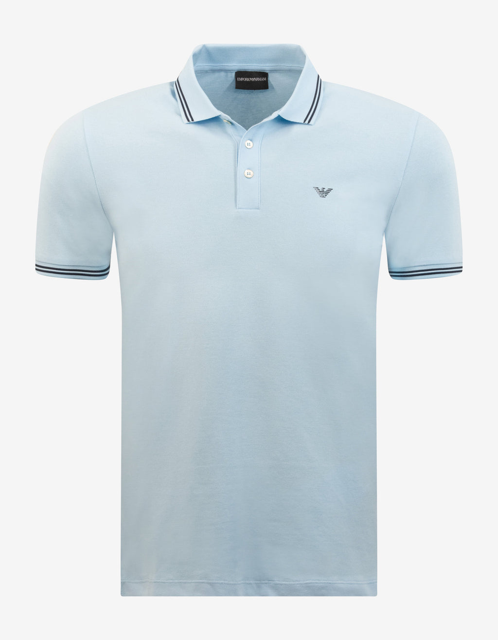 Light Blue Eagle Logo Polo T-Shirt