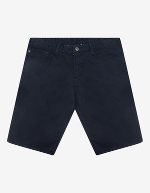Navy Blue Denim Bermuda Shorts