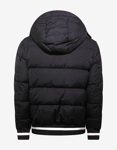 Emporio Armani Navy Blue Eagle Jacquard Down Jacket