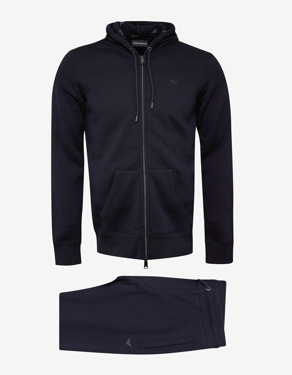 Navy Blue Eagle Logo Hooded Tracksuit