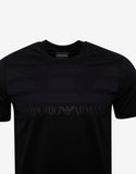 Navy Blue Logo Print T-Shirt