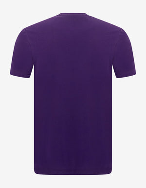 Purple EA Logo Print T-Shirt