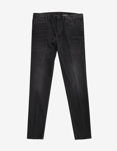 Emporio Armani Black Stonewash Jeans with Eagle Logo