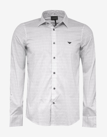 Emporio Armani White All-Over Logo Shirt