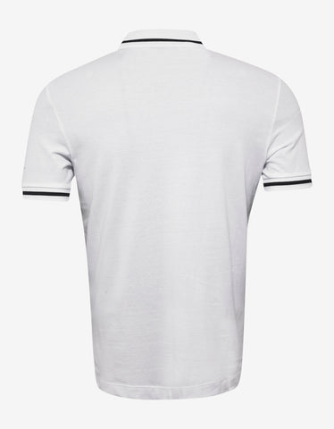 Emporio Armani White Eagle Logo Polo T-Shirt