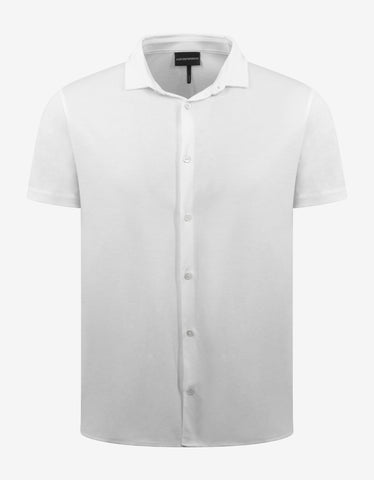 White 4G Logo Trim Short Sleeve Shirt