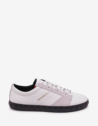 Emporio Armani White Studded Sole Trainers