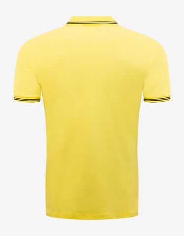 Emporio Armani Yellow Eagle Logo Polo T-Shirt