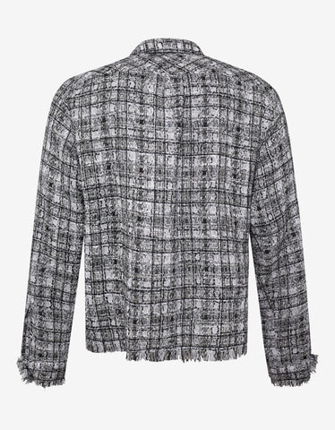 Faith Connexion Black & White Check Oversized Tweed Shirt