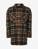 Havane Wool Blend Plaid Overshirt