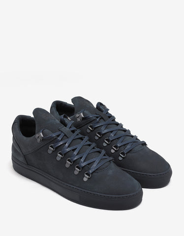 Filling Pieces Navy Blue Ton Sur Ton Mountain Cut Trainers