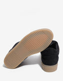 Suede Black Low Apache Trainers