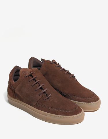 Filling Pieces Suede Maroon Low Apache Trainers