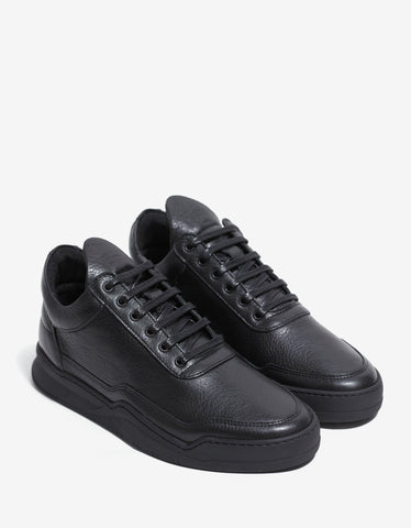 Filling Pieces Jasper Black Low Top Trainers