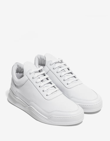 Filling Pieces Jasper White Low Top Trainers