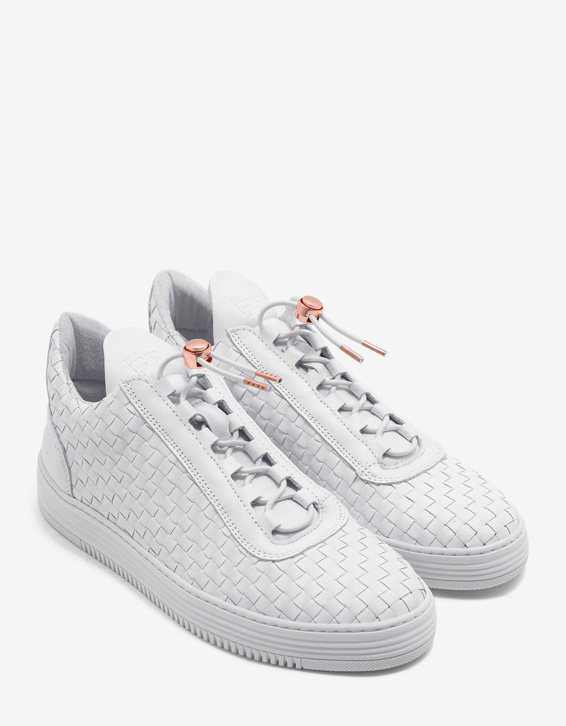 Low Top Twist White Trainers