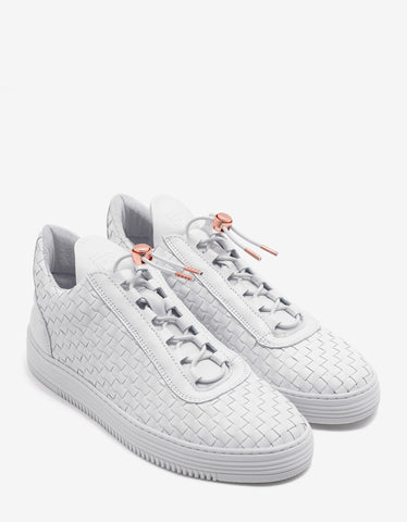 Filling Pieces Low Top Twist White Trainers