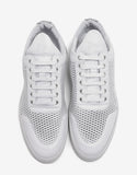 White Mesh Low Top Trainers
