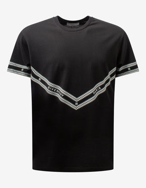 Black Chain Printed T-Shirt