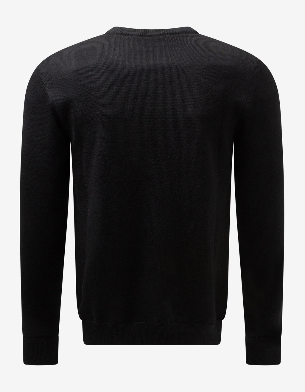 Black Latex Logo Wool Sweater