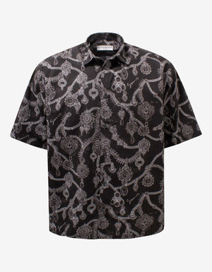Black Studio Homme Jewellery Print Shirt