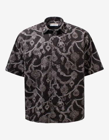 Black Exercise Print Shirt