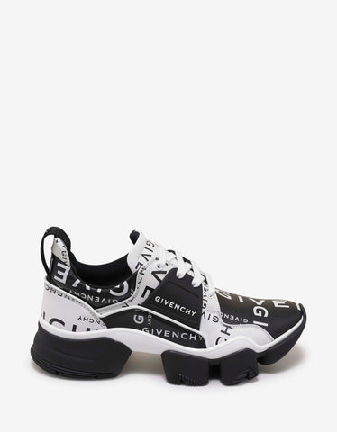 Givenchy All-Over Logo Leather Jaw Trainers