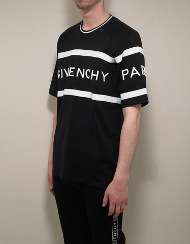 Givenchy Black 4G Embroidery Oversized T-Shirt