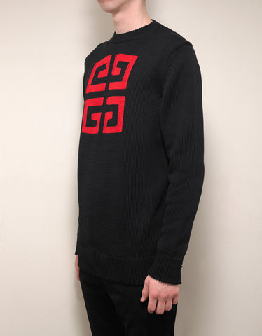 Givenchy Black 4G Jacquard Sweater