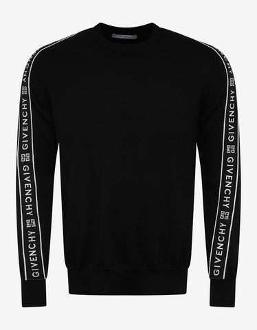 Black New Folk Embroidered Sweater