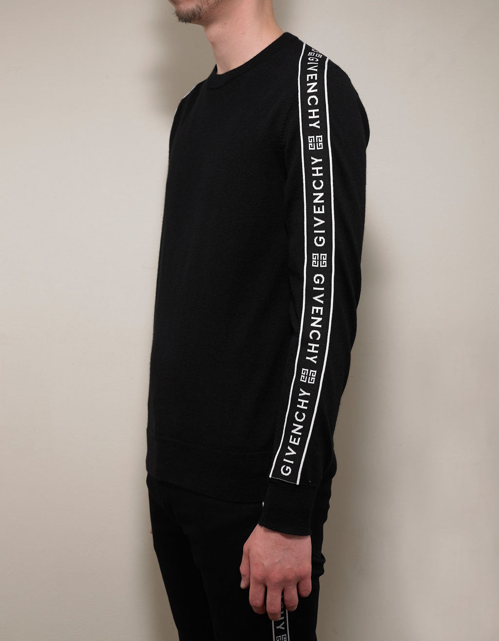 Black 4G Logo Band Wool Sweater -
