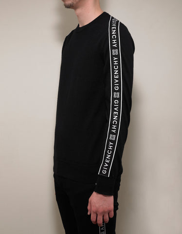 Givenchy Black 4G Logo Band Wool Sweater