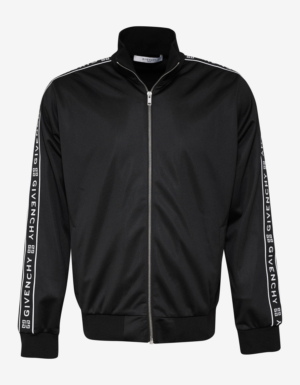 Black 4G Logo Band Zip Track Jacket