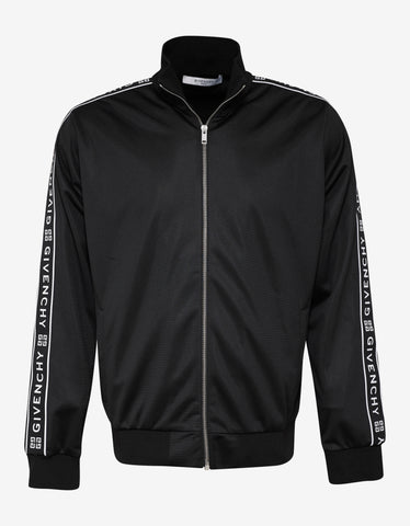 Givenchy Black 4G Logo Band Zip Track Jacket