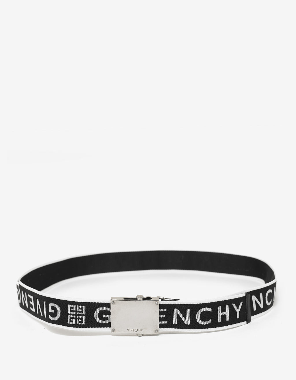 Black 4G Logo Canvas Belt