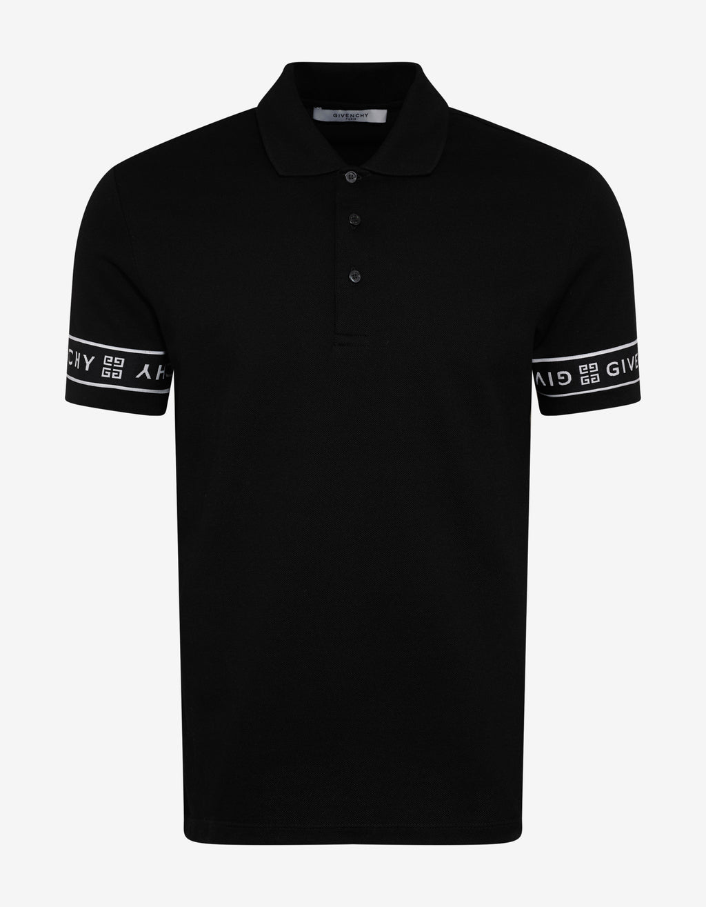Black 4G Logo Trim Slim Fit Polo T-Shirt