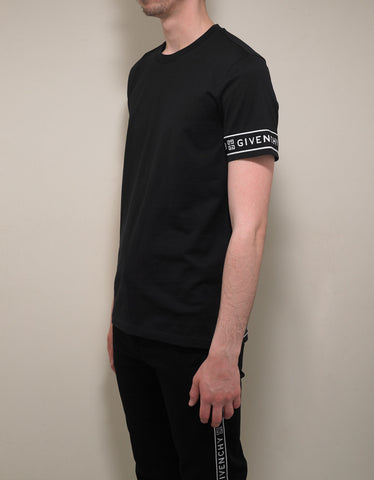 Givenchy Black 4G Logo Trim Slim Fit T-Shirt