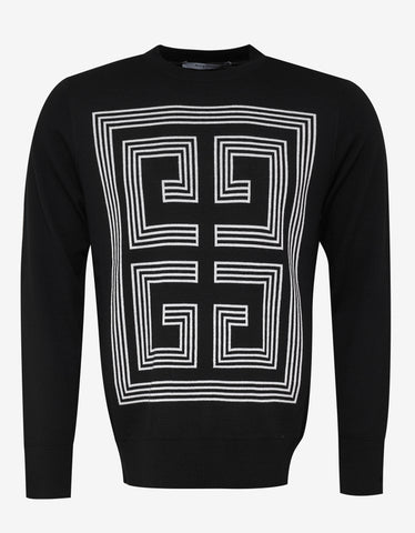 Givenchy Black 4G Logo Wool Sweater