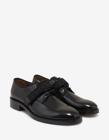 Mortimer Flat Black Leather Monk Strap Shoes