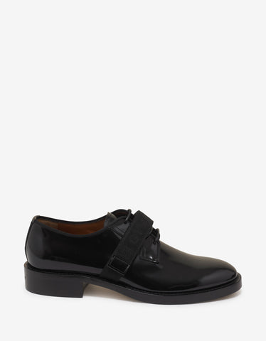 Givenchy Black 4G Webbing Cruz Derby Shoes