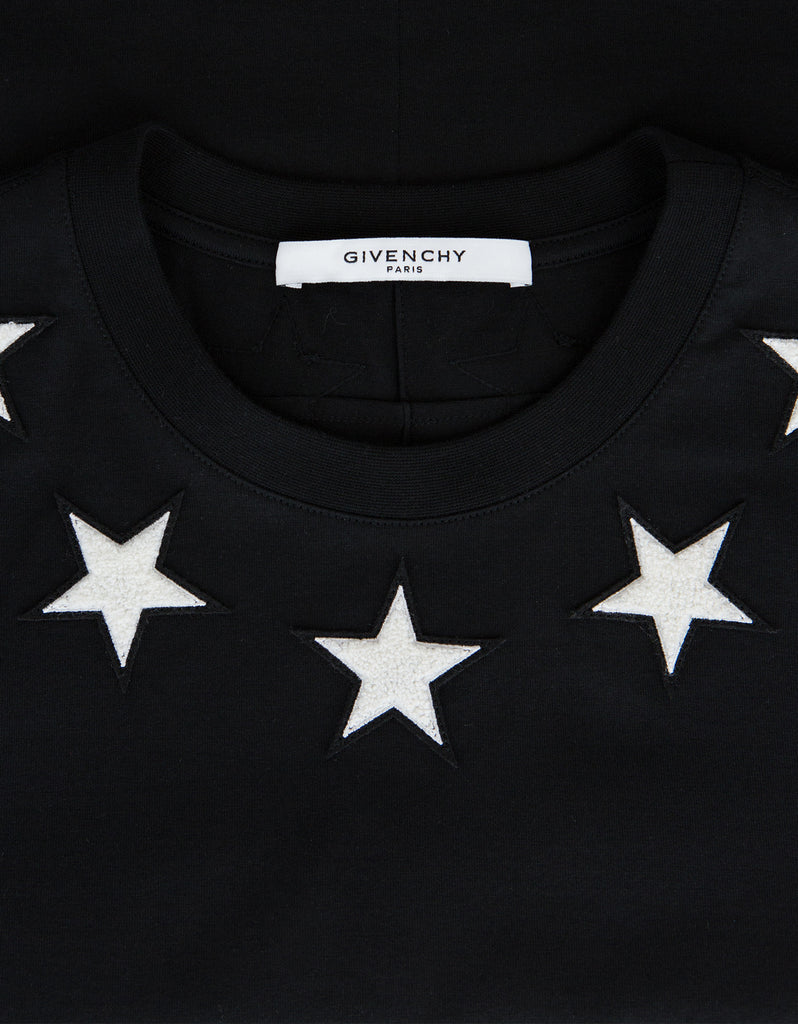 Black '74' Cuban T-Shirt with Stars
