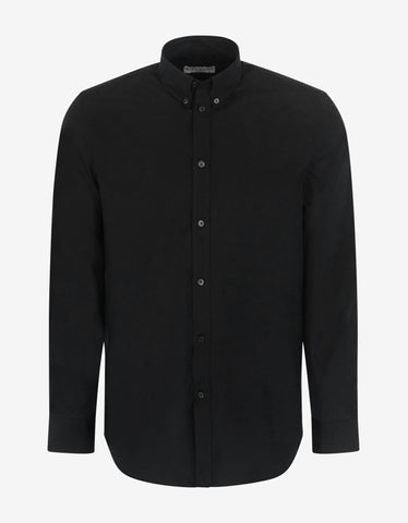 Black Logo Collar Shirt