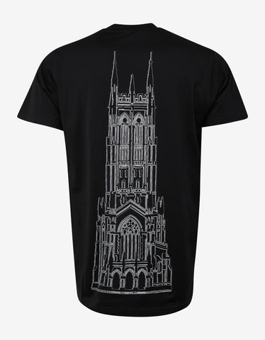 Givenchy Black Cathedral Print Modern Fit T-Shirt