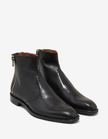 Givenchy Black Chelsea Boots with 3 Zips